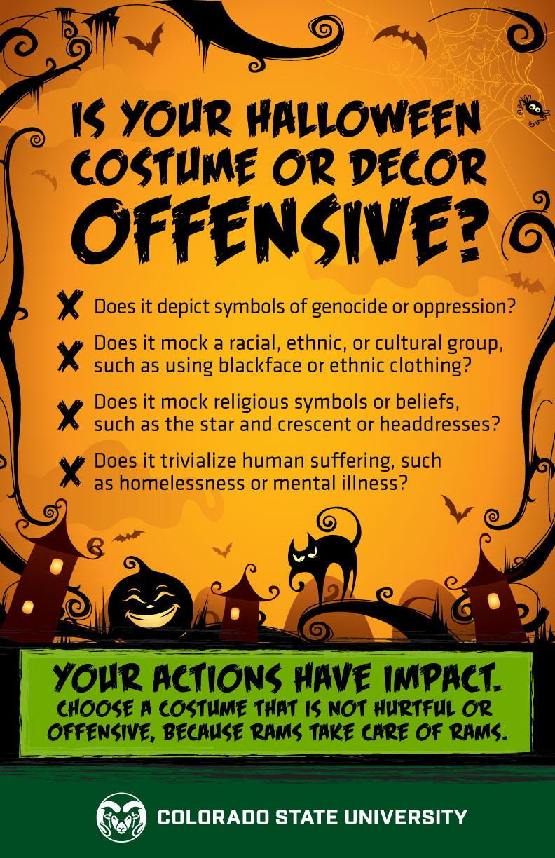 is your halloween costume or decor offensive? | source | colorado