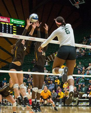 CSU volleyball Jasmine Hanna