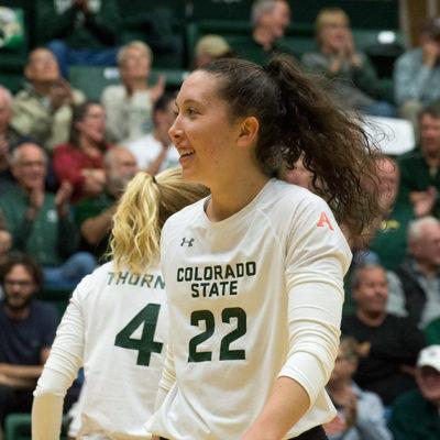 CSU volleyball Katie Oleksak