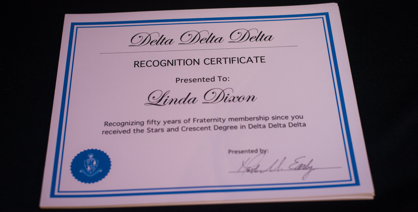 Tri Delta centennial reception