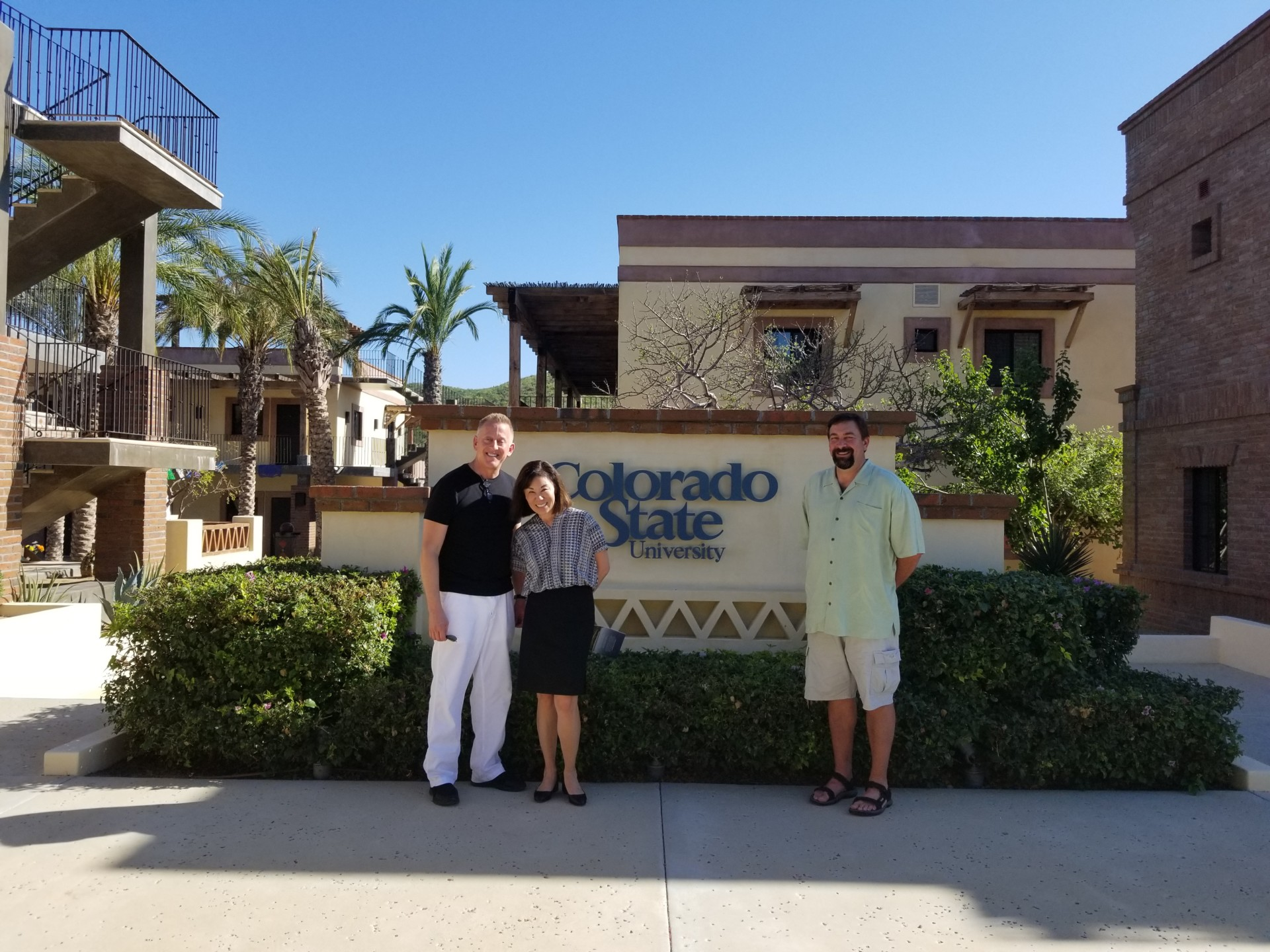 Tony Frank and two people in Todos Santos