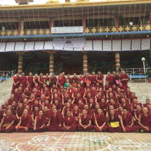 Meena Balgopal and the monks