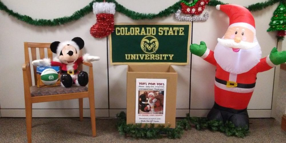 Toys for Tots display