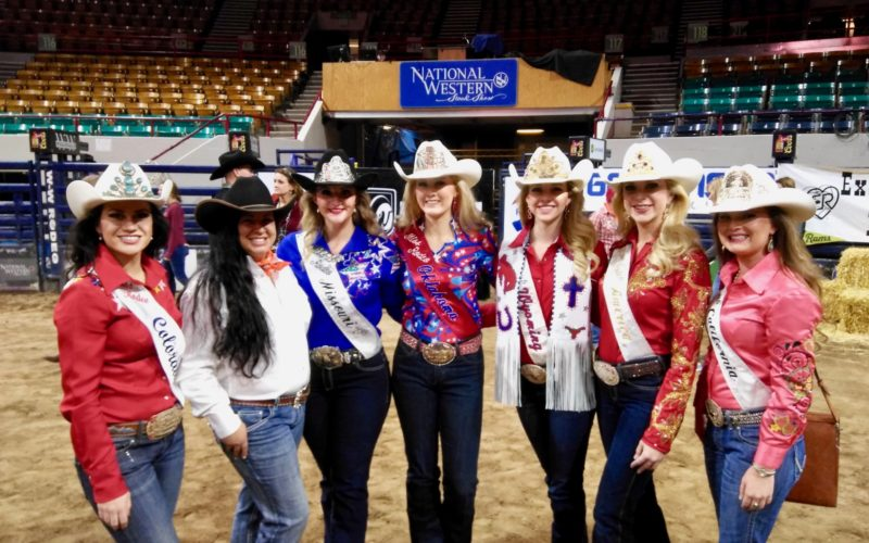 Group photo of rodeo queens at Exceptional Rodeo.
