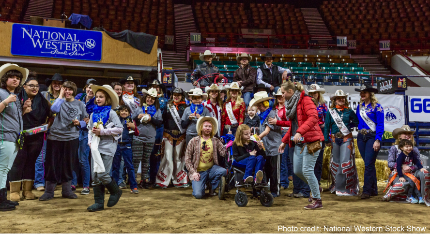 Group photo of all Exceptional Rodeo volunteers, chaperones, and participants.