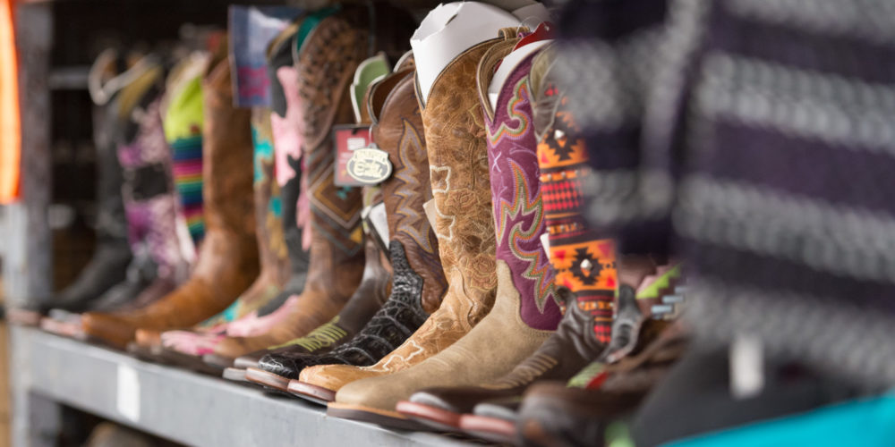 Boots on a rack