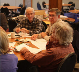 Table of participants at previous Poudre River Forum