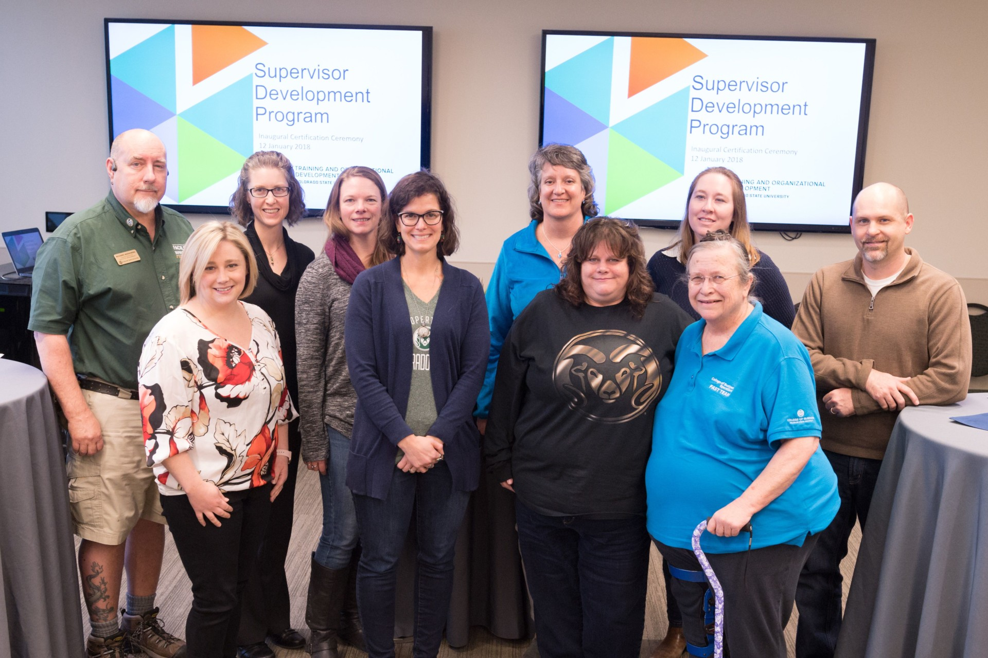 Employees who earned Supervisor Development Certificate