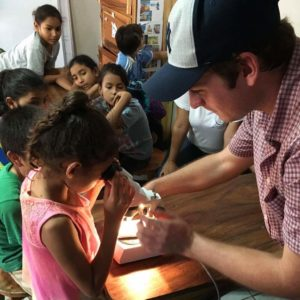Matt Donovan working in Peace Corps
