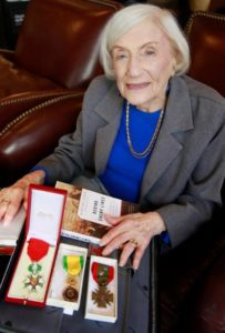 Marthe Cohn with medals
