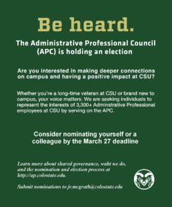 Administrative Professional Council nomination graphic