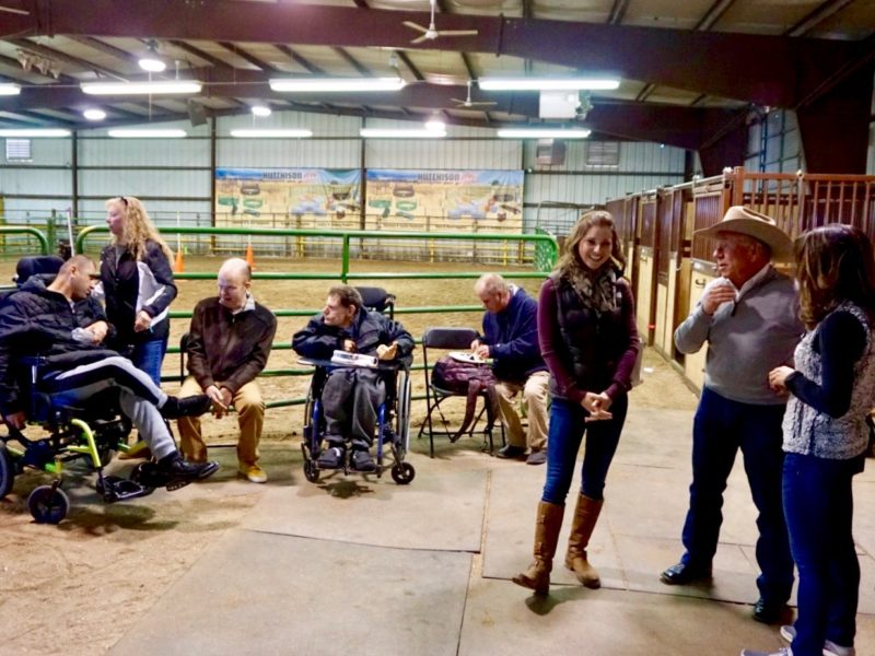 Visitors from Laradon join CSU staff and attendees Temple Grandin Equine Center Open House.