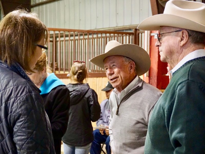 Dr. Jerry Black, director of CSU Equine Sciences department, speaks with attendees at Temple Grandin Equine Center Open House.