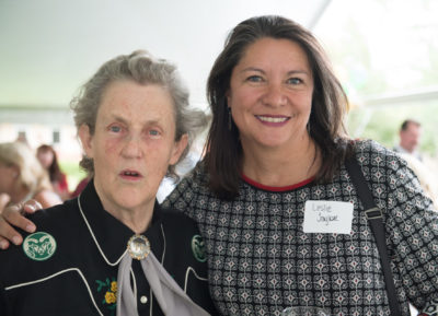 Leslie Taylor and Temple Grandin