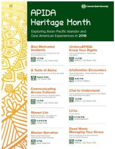 APIDA Heritage Month event flyer