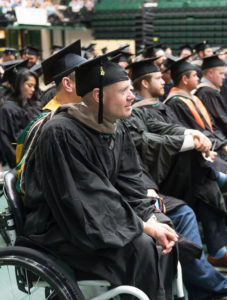 Kevin Hoyt at commencement