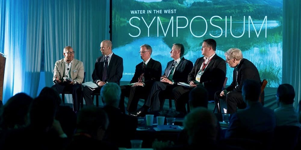 Colorado Impact panelists on-stage at CSU Water in the West Symposium.