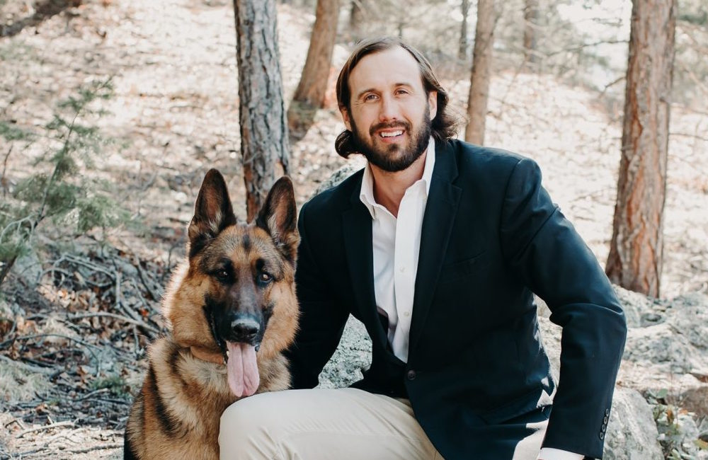Chase Herring with dog