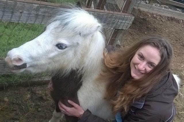 Elizabeth Wreford-Smith with ponyl