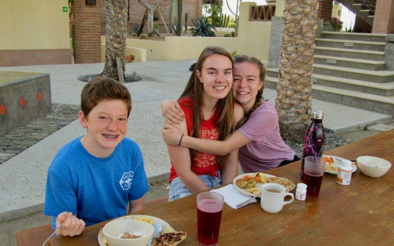 Youth visiting Todos Santos Center during Family Adventure Week.