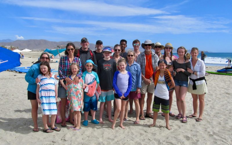 Group photo of Todos Santos Center Family Adventure Week participants.
