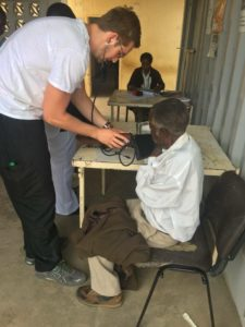 Parker Lewis treating patients in Zambia