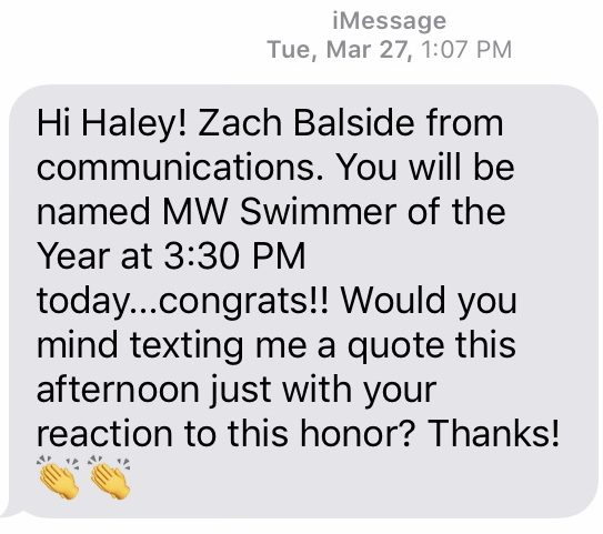 Haley Rowley text
