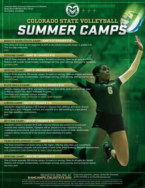 CSU volleyball camps
