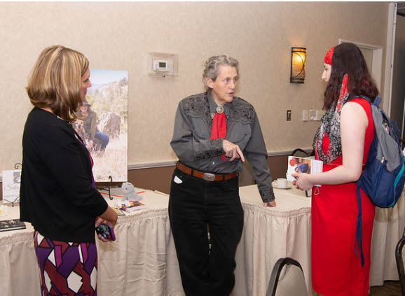 Temple Grandin with Zonta guests