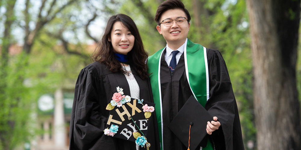 Two Chinese grads
