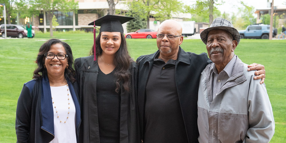 Family with grad