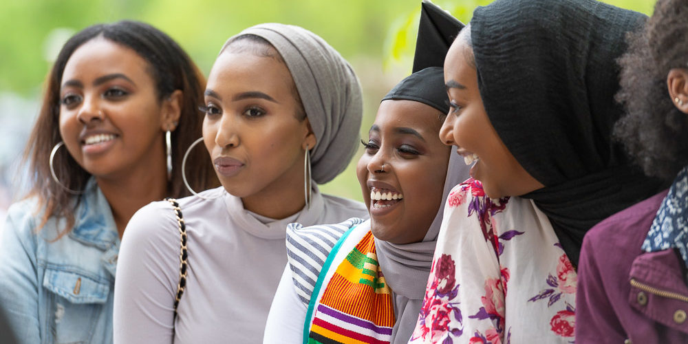 Grads in hijabs