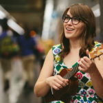 Danielle with her ukulele