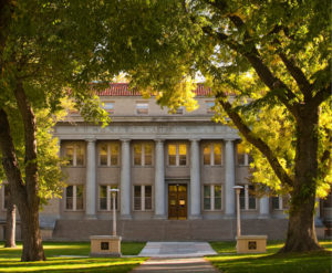 Administration Building in fall