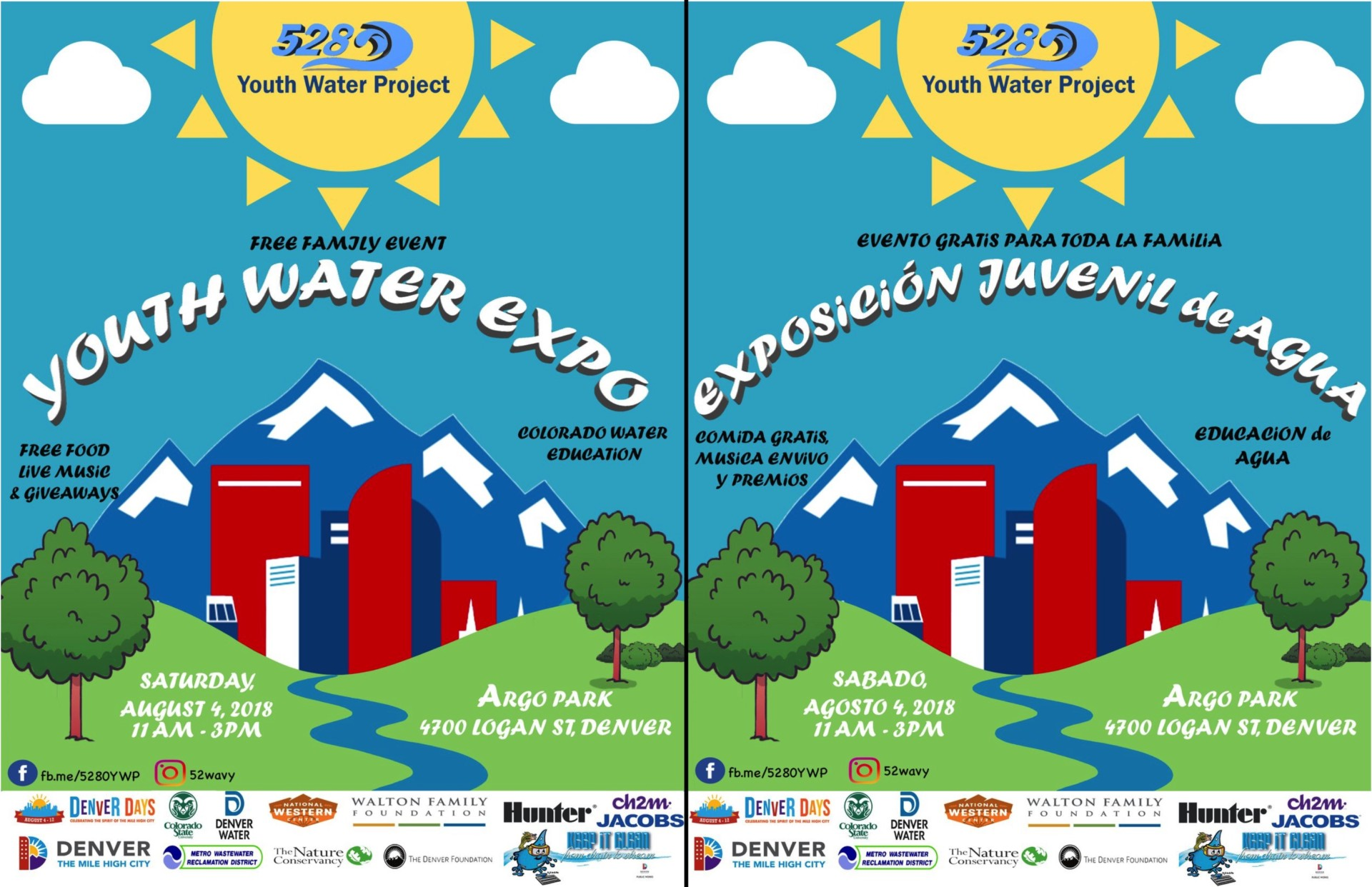 5280 Youth Water Expo flier - bilingual