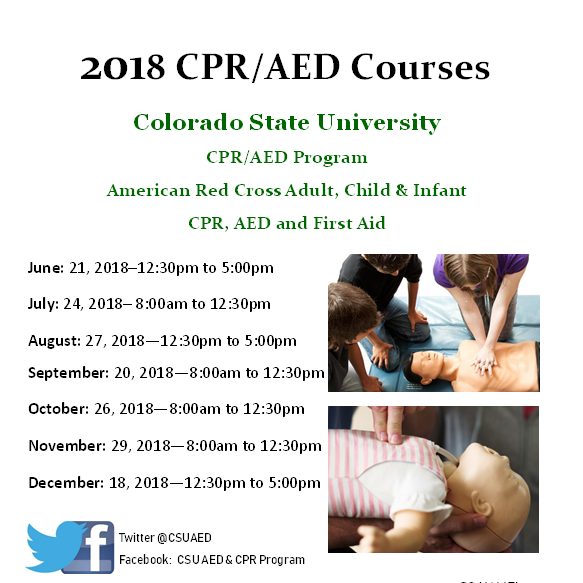 Colorado Cardiac Cpr: Become Certified In CPR/AED And First Aid At CSU