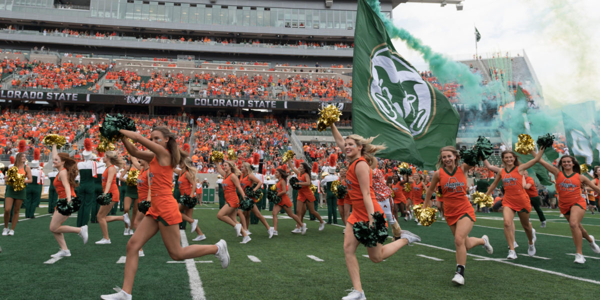 Colorado State University celebrates Ag Day with a football game against Abilene Christian University, September 9, 2017.