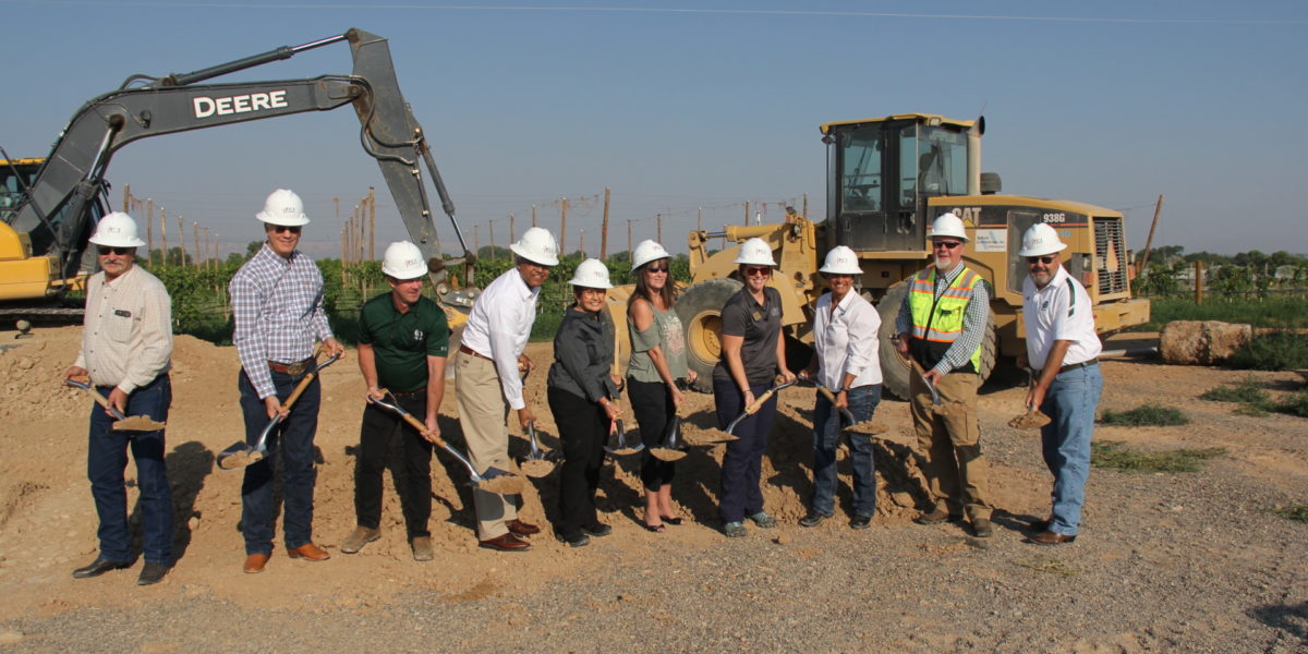 CSU faculty celebrate the CSU Western Colorado Campus groundbreaking.