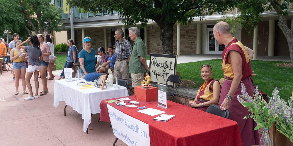 Tables at Faith and Belief Fair