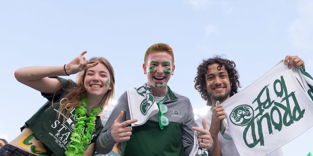 Students in stands at Pep Rally