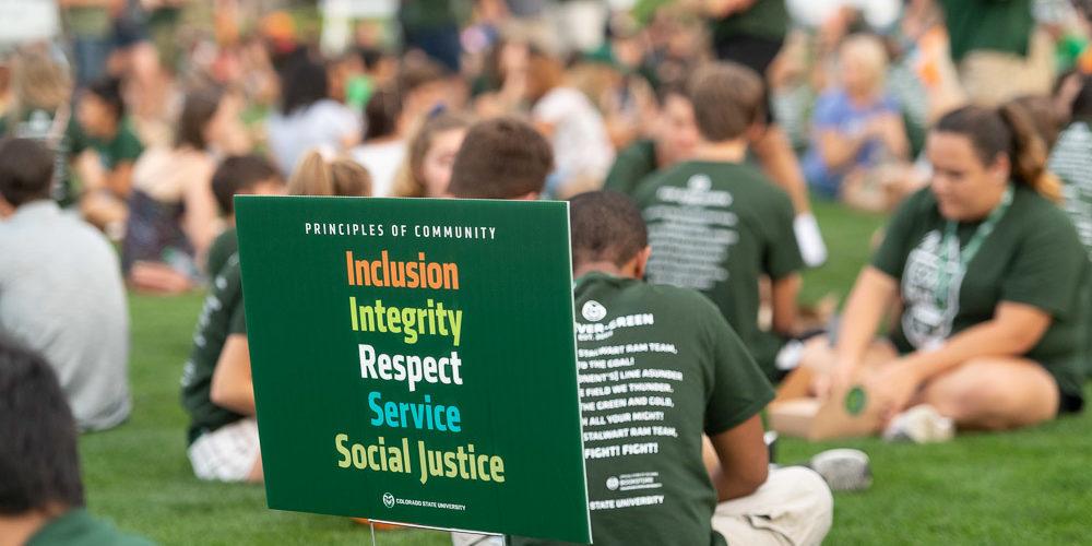 Principles or Community at picnic