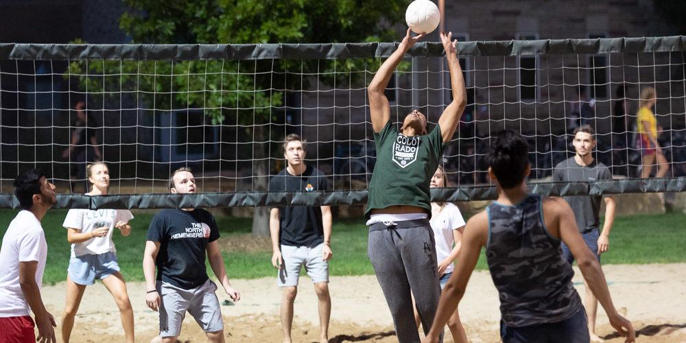 Volleyball at picnic