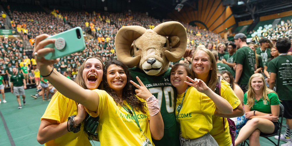 A selfie with CAM the Ram at Convocation