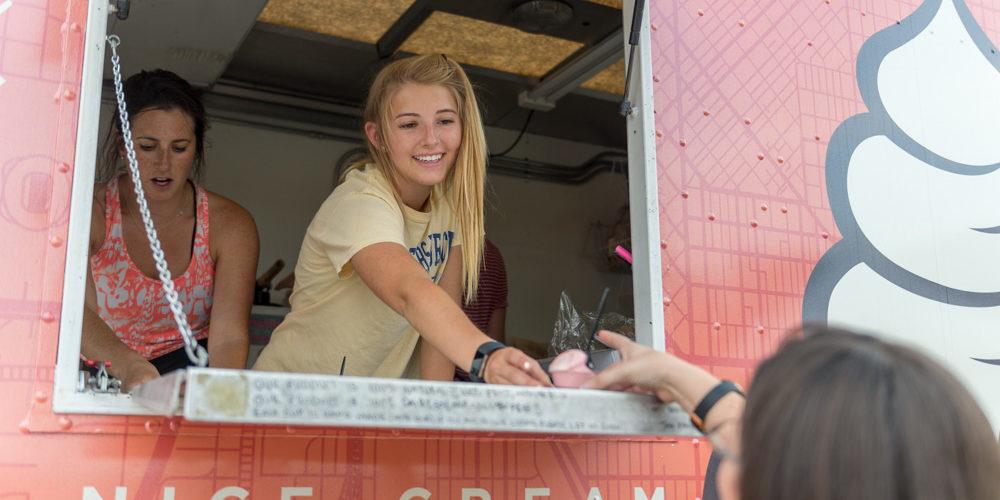 Ice cream truck at Carnival