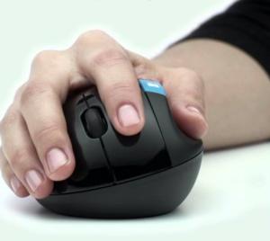 Hand on ergonomic mouse