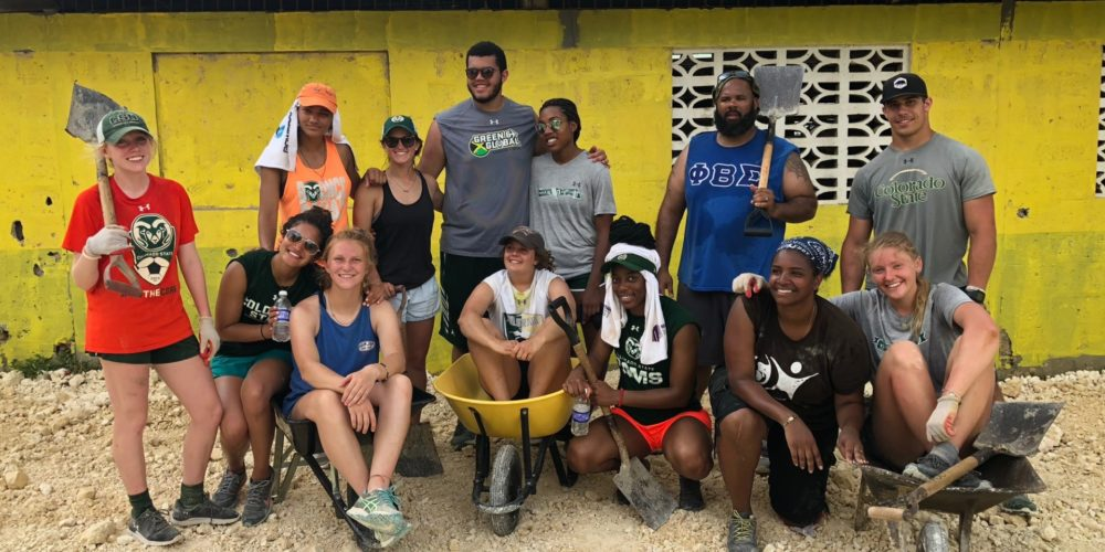 Group photo of athletes in Jamaica.