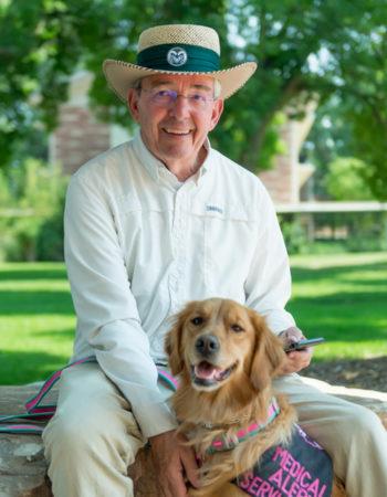 CSU faculty with service dog