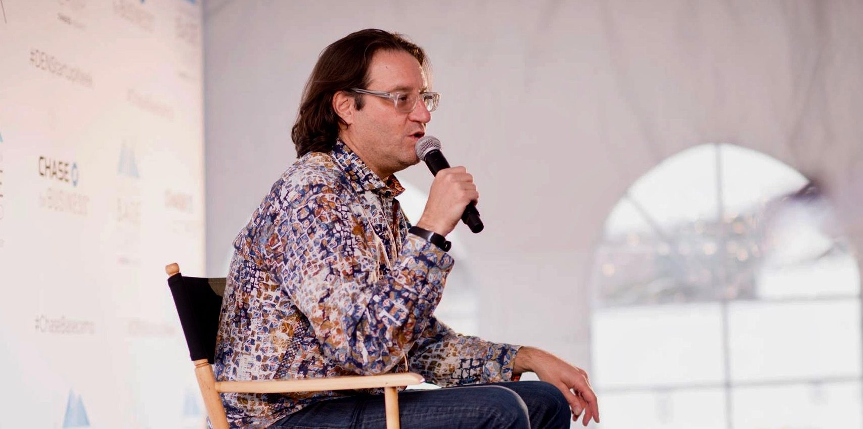 Brad Feld speaking during Denver Startup Weeks session in 2017.