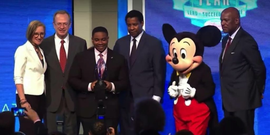 Malachi Haynes with Denzel Washington, Mickey Mouse and others