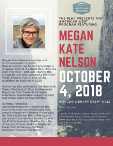 Megan Kate Nelson event flyer